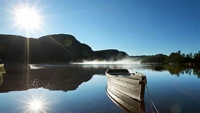 Wallpapers Lake Boat Boats Lonely Desktop Widescreen