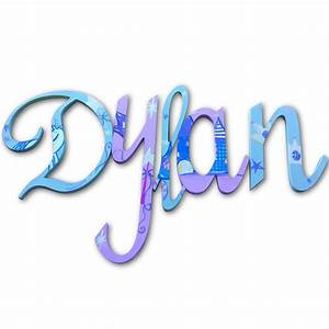 dylan purple princess hand painted wall letters With painted wall letters