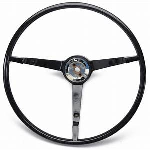 Steering Wheel - 65-66 Mustang Standard Black Ford - John's Mustang Parts & Accessories