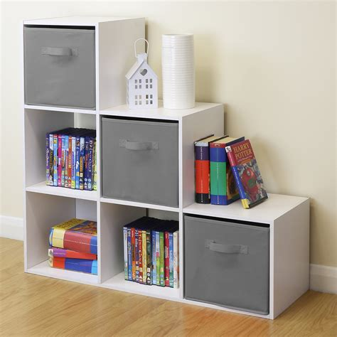 childrens room storage white 6 cube storage unit boys 2172