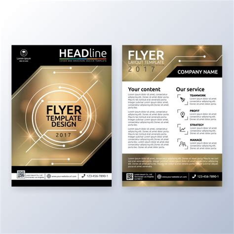 How To Design A Company Brochure by Business Brochure Design Vector Free