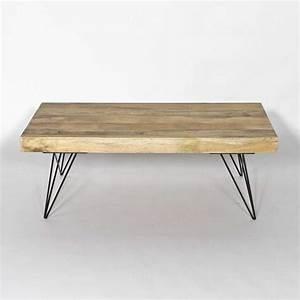 Pied De Table En épingle : table basse manguier le bois chez vous ~ Dailycaller-alerts.com Idées de Décoration