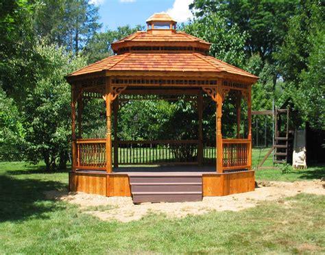 Gazebo : Red Cedar Double Roof-sided Oval Gazebos