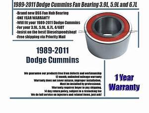 Dodge Ram 2500 3500 Diesel Fan Hub Bearing 1989