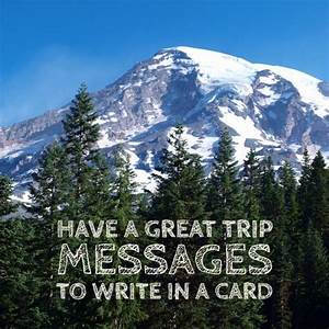Writing a message about a trip