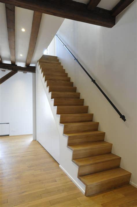 handgreep trap een z trap in massief franse eik met een handgreep in