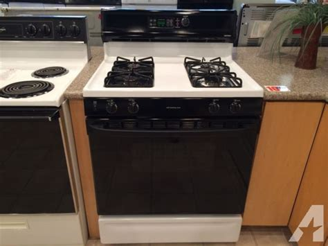 used gas range for hotpoint black white gas range stove oven used for 8769