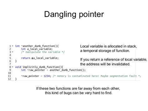 rust programming language pointer dangling