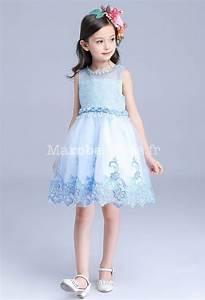 jolie robe bleu pastel pour fille au mariage With robe fourreau combiné avec bracelet pour bébé