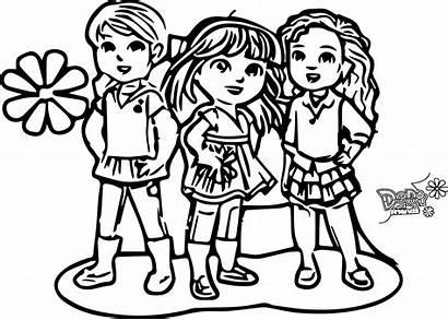 Amigos Dora Sus Coloring Colorear Friends Cidade