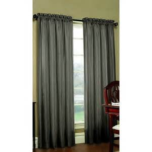 shop allen roth columbia 63 in mineral polyester rod pocket blackout single curtain panel at