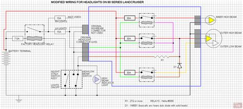 wiring diagram to install headlight upgrade 60 or 80