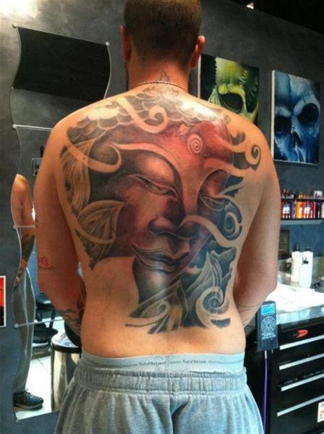 japanese buddha back tattoo by flesh tattoo company