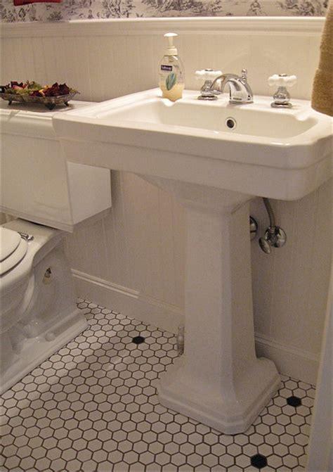 Vintage Style Powder Room  Vintage Style Pedestal Sink