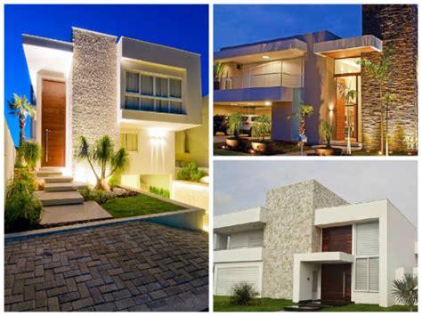 Fachadas De Casas Modernas  90 Inspirações Para Se