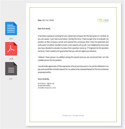 salary increment letter   printable samples