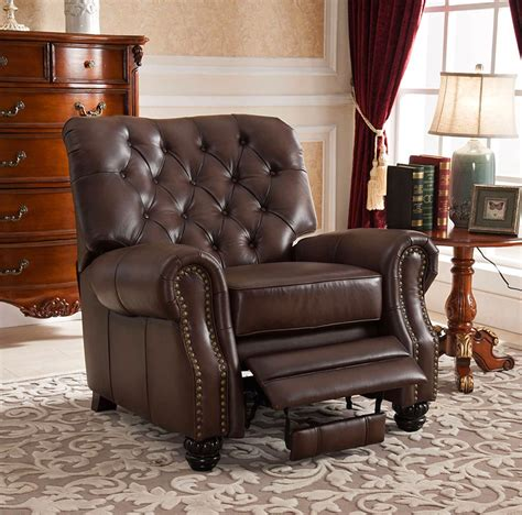 Discontinued Uttermost Ls by Marshall Traditional Top Grain Brown Leather Pushback