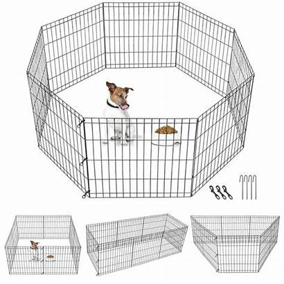 Dog Playpen Crate Cage Fence Pen Panels