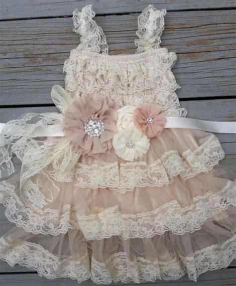 shabby chic flower dress lace flower girl dress chagne flower girl dress shabby chic flower girl dress rustic flower