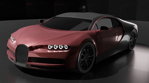 There are also textures for the car in the pack. Bugatti Chiron 3D model concept | CGTrader