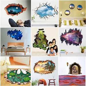 Poster Mural 3d : 3d look wall vinyl sticker poster childrens adult bedroom living room mural ebay ~ Teatrodelosmanantiales.com Idées de Décoration