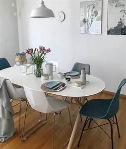 Weisse Esstisch Stühle : verschiedene st hle mit schlichtem skandinavischen design ~ A.2002-acura-tl-radio.info Haus und Dekorationen