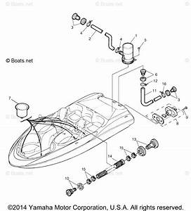 Yamaha Boat Parts 2004 Oem Parts Diagram For Deck Drain