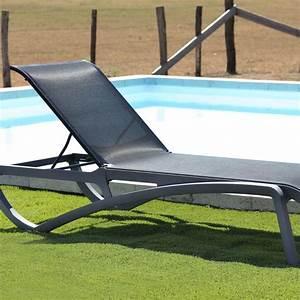 Bain De Soleil Noir : aliz bain de soleil empilable couleur noir desjoyaux ~ Teatrodelosmanantiales.com Idées de Décoration