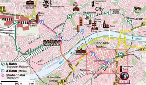 map  frankfurt tourist travelquazcom