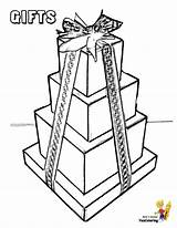 Coloring Gift Boxes Wrapped Yescoloring Packages Merry Jesus Holiday Toys Jolly sketch template