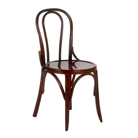 chaise bistrot jairo en bois hêtre noyer achat vente