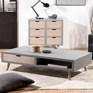 Table Salon Scandinave : table basse scandinave effet b ton th a so inside ~ Teatrodelosmanantiales.com Idées de Décoration