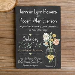 rustic wedding invitations boho rustic wedding invitations jars chalkboard ewi369 as low as 0 94