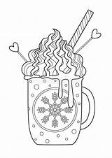Whipped Doodle Mug Coloring Chocolate Cream sketch template