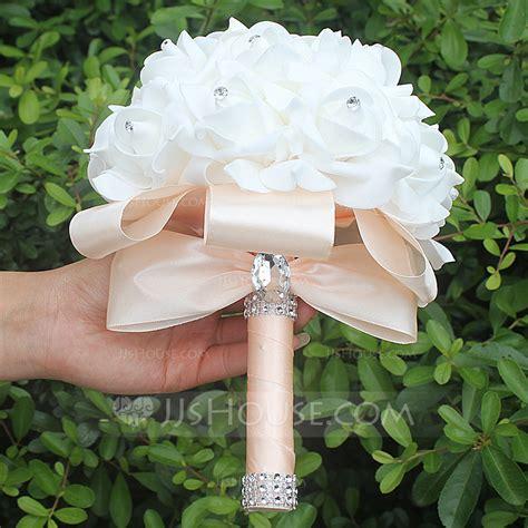 satin bridal bouquets sold   single piece