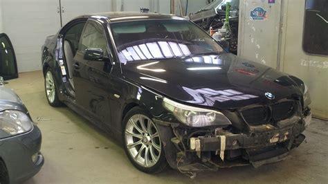 Bmw 530i E60 Collision Repair  Door And Front Bumper