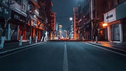 Road Buildings Night Street 4k 1080p Fhd