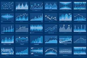 Business Data Financial Charts Blue Banner