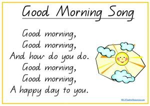 songs poems and nursery rhymes k 3 resources k 3 811 | good morning song Page 1 300x212