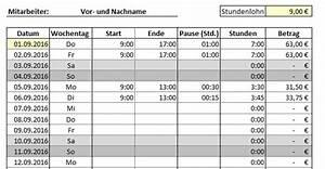 Excel Arbeitszeit Berechnen Formel : arbeitszeitplanung und arbeitszeiterfassung mit excel sofort download ~ Themetempest.com Abrechnung