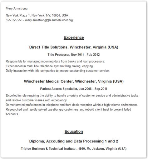 Professional Resume Builder by Professional Resume Templates Resume Builder With