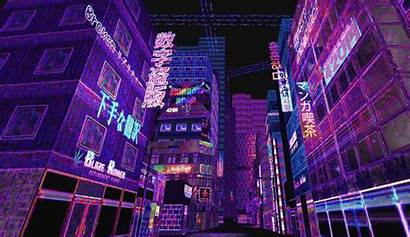 Broken Reality Aesthetic Pixel Cyberpunk Anime Psychedelic