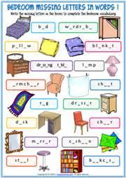 bedroom esl printable worksheets  exercises