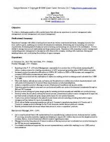 Sales Marketing Resume Exles by Sle Resume Exle 4 Sales And Marketing Resume