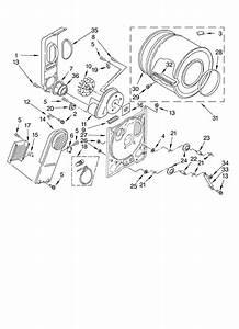 Whirlpool Model Ler3624jq1 Residential Dryer Genuine Parts