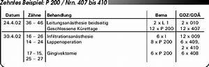 Abrechnung Privatpatienten Goä : abrechnung nach bema und goz aufgeteilte bzw zusammengefasste leistungen eine gegen berstellung ~ Themetempest.com Abrechnung