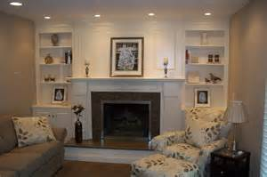 Shelves with Fireplace Design Ideas