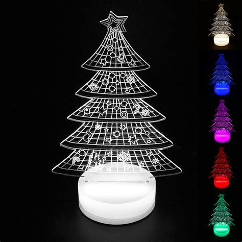 led christmas night lights aliexpress com buy christmas tree lights indoor 3d led