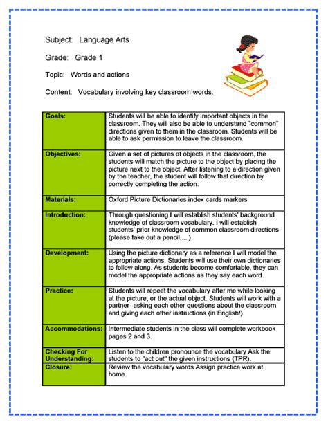 sample lesson plan outline daily lesson plan template free small medium and large