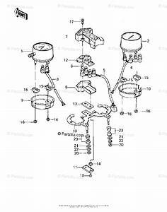 Kawasaki Motorcycle 1982 Oem Parts Diagram For Meters   U0026 39 80